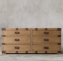 Heirloom Silver-Chest 6-Drawer Dresser