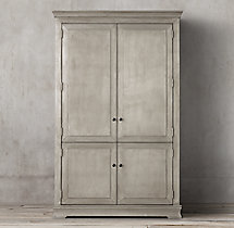 Annecy Metal-Wrapped Armoire