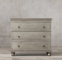 Annecy Metal-Wrapped 3-Drawer Dresser