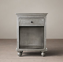 "22"" Annecy Metal-Wrapped Open Nightstand"