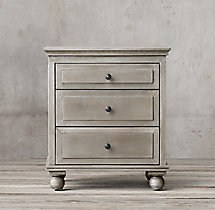 "Annecy Metal-Wrapped 26"" Closed Nightstand"