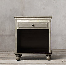 "Annecy Metal-Wrapped 26"" Open Nightstand"