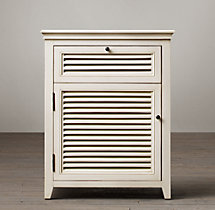 Shutter Closed Nightstand