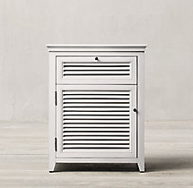 "Shutter 24"" Closed Nightstand"
