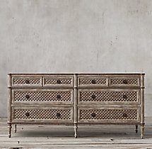 Louis XVI Treillage 8-Drawer Dresser