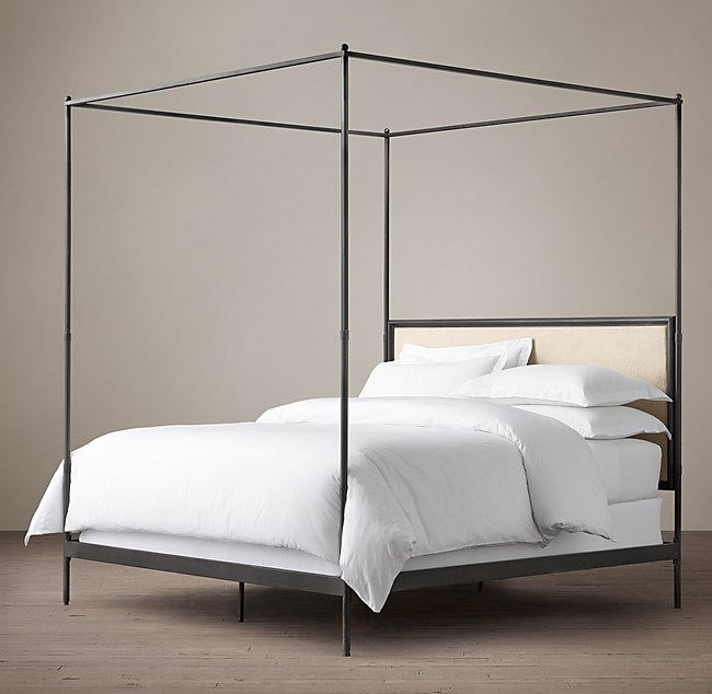 Iron Four Poster Bed c. french iron canopy bed