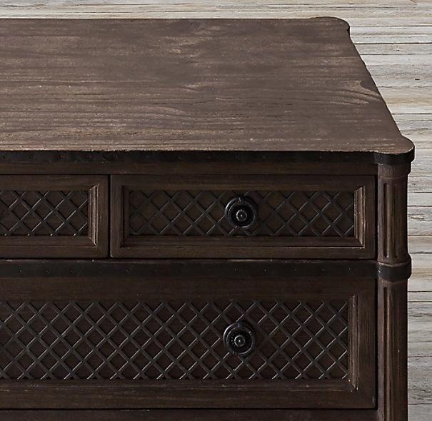Restoration Hardware Louis Xvi Dresser: Louis XVI Treillage 8-Drawer Dresser