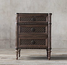 "Louis XVI Treillage 24"" Closed Nightstand"