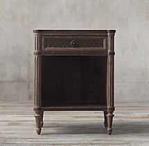 "24"" Louis XVI Treillage Open Nightstand"
