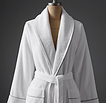 Hotel Satin Stitch Turkish Cotton Robe