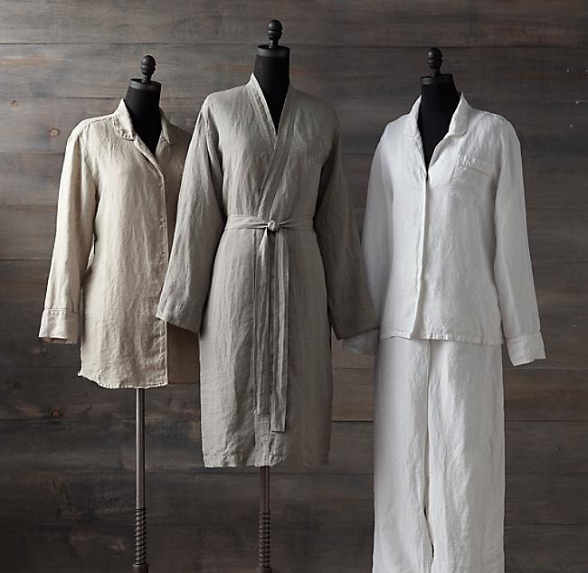 Stonewashed Belgian Linen Robe 91707d589
