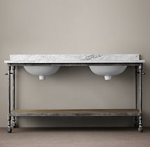 Dutch Industrial Double Washstand Base
