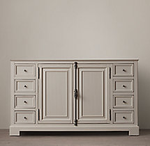 French Casement Extra-Wide Single Vanity Base