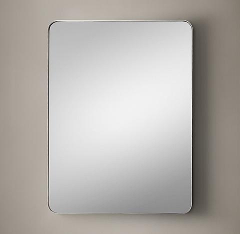 Gray Wall Mirror wall mirrors | rh modern