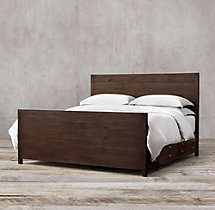 Printmaker's Storage Bed With Footboard