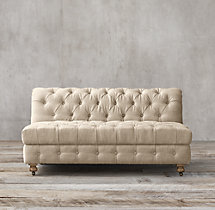Cambridge Fabric Armless Sofa