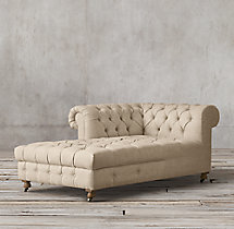 Cambridge Upholstered Left-Arm Chaise