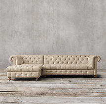 Cambridge Upholstered Left-Arm Chaise Sectional