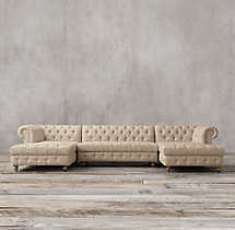 Preconfigured Cambridge Upholstered U-Chaise Sectional