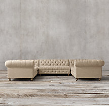 Preconfigured Cambridge Upholstered U-Sofa Sectional