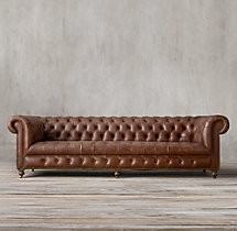 "106"" Cambridge Leather Sofa"