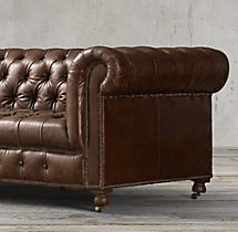 "118"" Cambridge Leather Sofa"