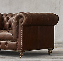 "60"" Cambridge Leather Sofa"