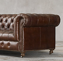 "84"" Cambridge Leather Sofa"