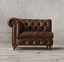 Cambridge Leather Corner Chair