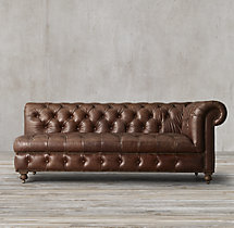 Cambridge Leather Right-Arm Sofa