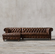 Preconfigured Cambridge Leather Left-Arm Chaise Sectional