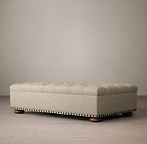 Churchill Upholstered Coffee Ottoman With Nailheads