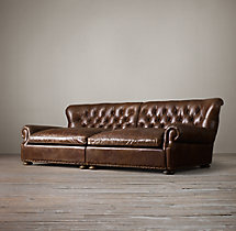 Churchill Leather Daybed With Nailheads