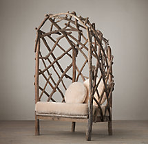 Driftwood Chair With Shearling Cushion