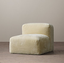 Fulham Shearling Armless Chair