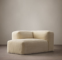 Fulham Shearling Left-Arm Chaise