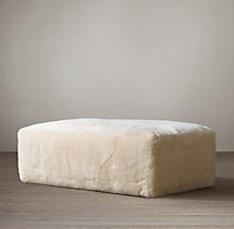 Fulham Shearling Ottoman