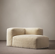 Fulham Shearling Right-Arm Chaise
