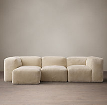 Preconfigured Fulham Shearling Left-Arm Chaise Sectional