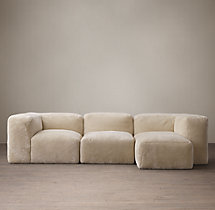 Preconfigured Fulham Shearling Right-Arm Chaise Sectional