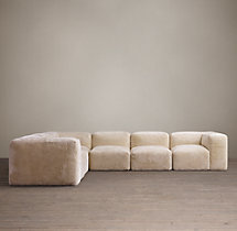 Preconfigured Fulham Shearling L-Sectional