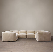 Preconfigured Fulham Shearling U-Sofa Sectional