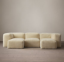 Preconfigured Fulham Shearling U-Chaise Sectional