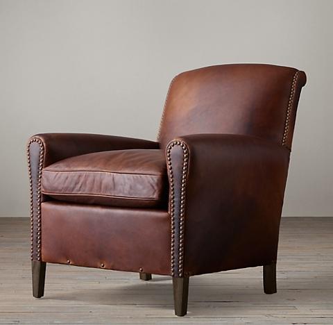Gerrard Leather Club Chair