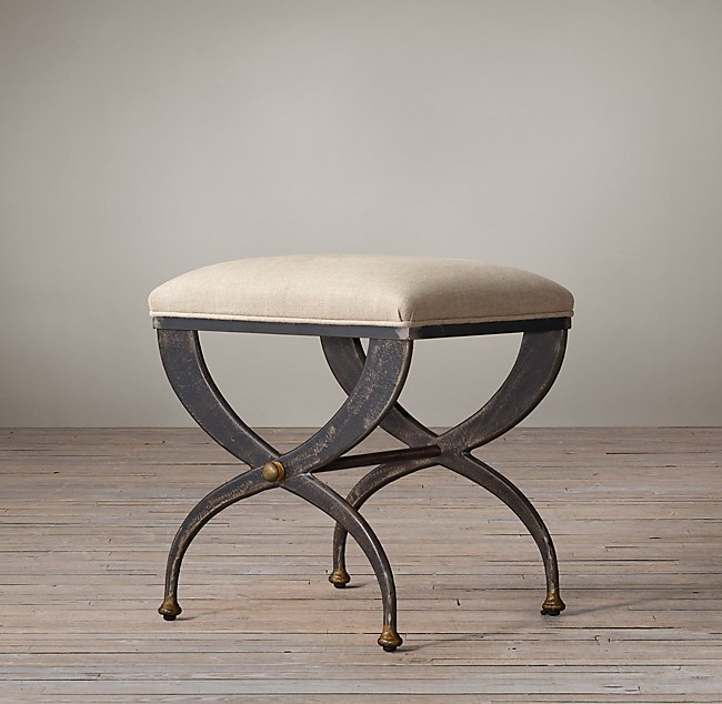 19th C French S Curve Stool