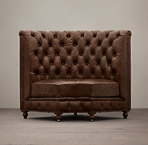 Kensington Leather Corner Banquette