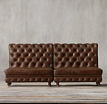 Kensington Leather Straight Banquette