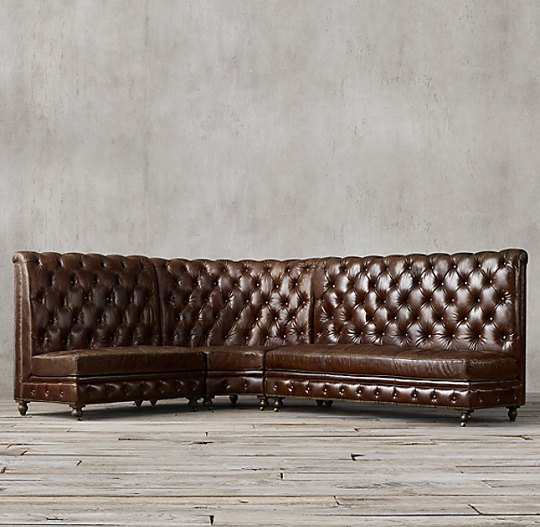 Leather Banquette Seating Store: Kensington Leather L Banquette