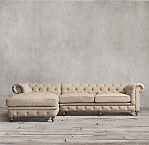 Preconfigured Kensington Upholstered Left-Arm Chaise Sectional