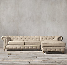 Kensington Upholstered Right-Arm Chaise Sectional